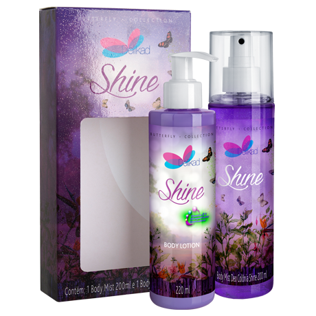 Kit Delikad Butterfly Collection Body Lotion e Body Mist Shine