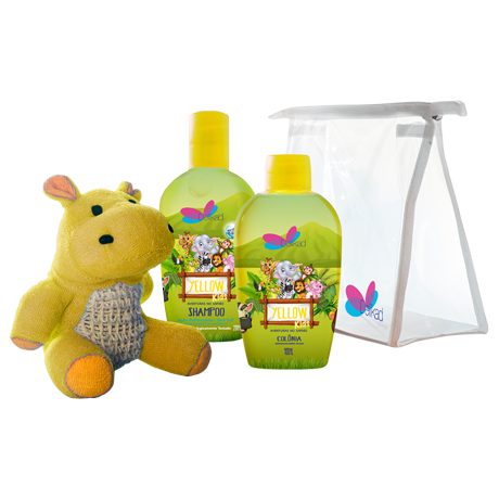 Kit Delikad Kids Safari Colônia e Shampoo Hyppo Yellow
